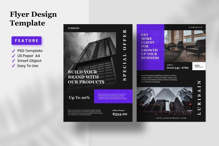 Flyer Design Template - Lurisain