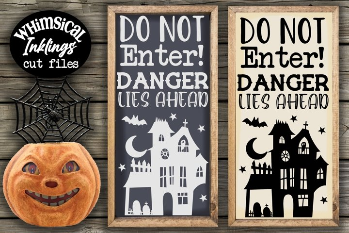 Danger Lies Ahead-Halloween SVG