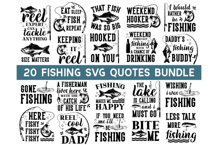 Fishing SVG Bundle, fish svg, dad svg, funny quotes svg