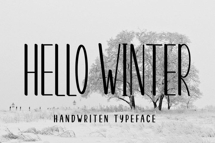 Hello Winter Modern Typeface Font