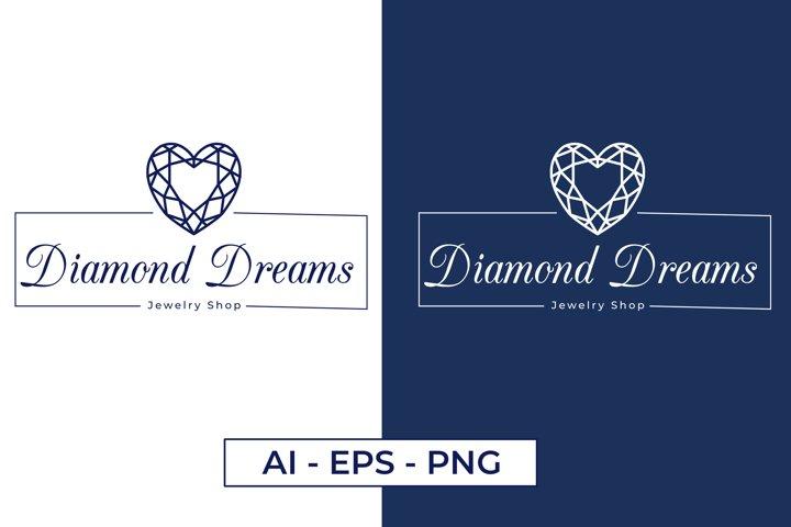 Jewelry store logo, Luxury Logo Design, Premade Logo Design