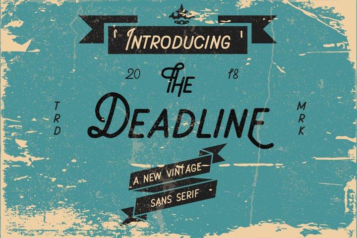 Deadline Font - Sans Serif