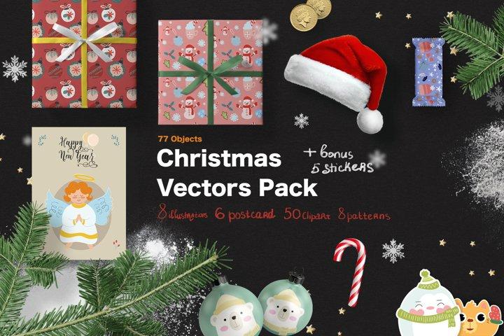 Merry Christmas Vectors Pack