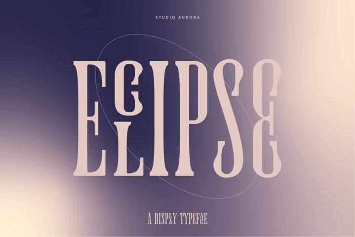 Eclipse Condensed Serif Ligature Font