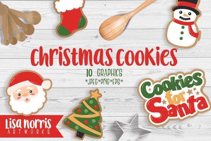 Christmas Cookies Clip Art Graphics