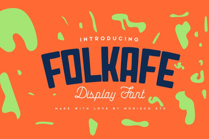 Folkafe - Display Font