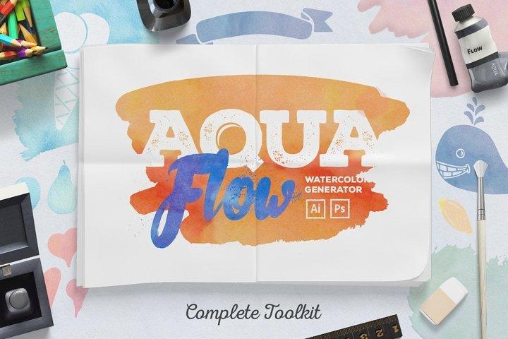 AquaFlow Watercolor Generator