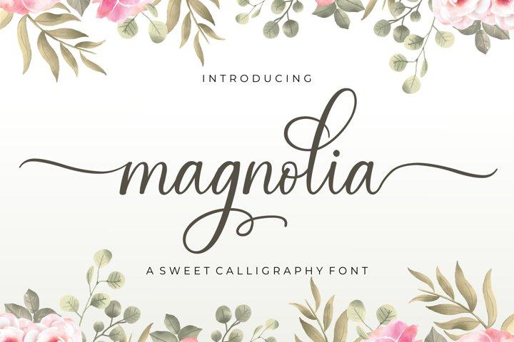 Magnolia Sweet Calligraphy