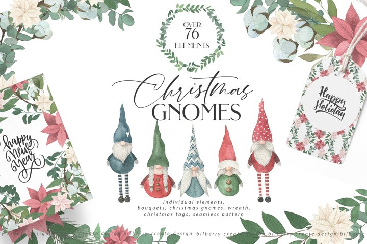 Christmas Gnomes art set