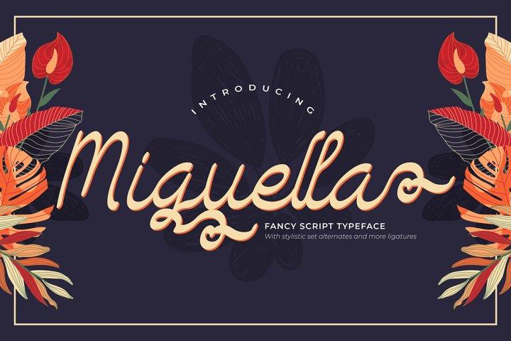 Miguella | Fancy Script Typeface