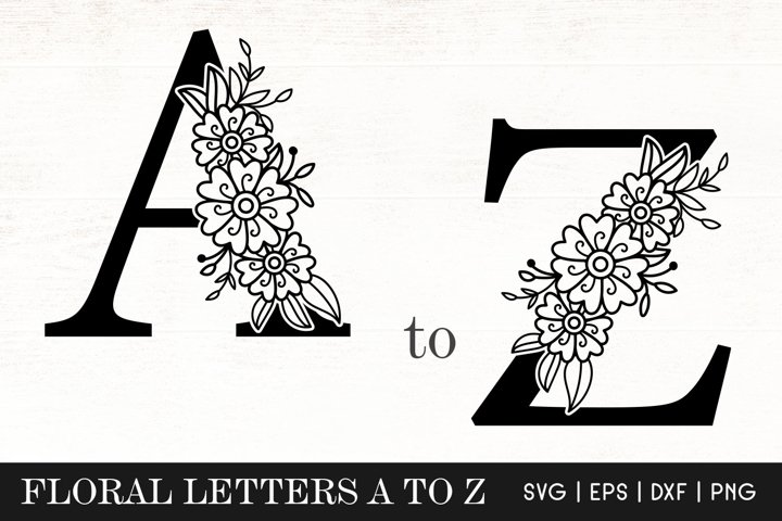 Floral Letters Monogram SVG - Flower Alphabets