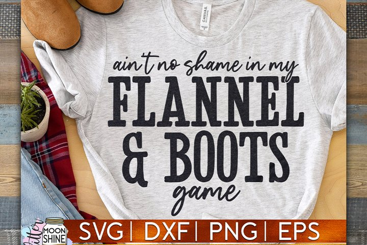 Ain't No Shame Flannel & Boots SVG DXF PNG EPS example