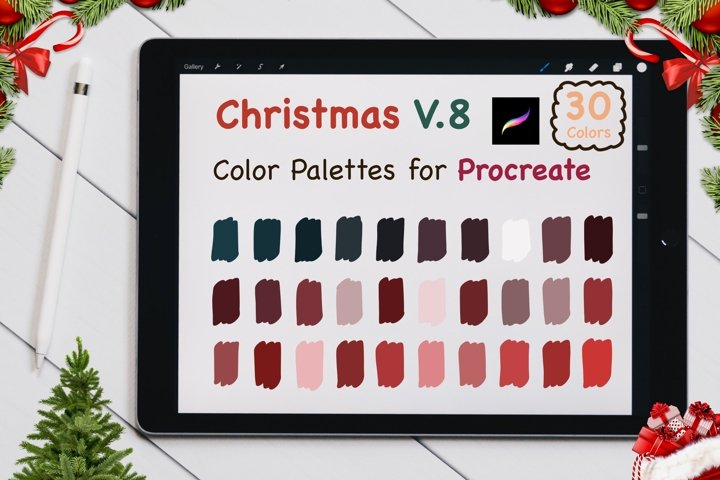 Color Palettes set for Procreate - Christmas V.8