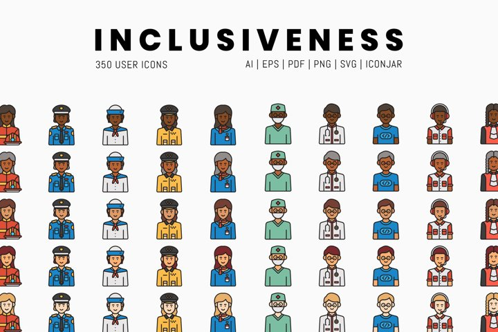 350 Inclusiveness Icons