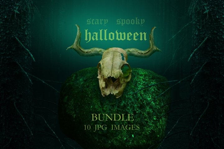 Halloween Bundle 10 jpg images / Scary spooky fantasy pics