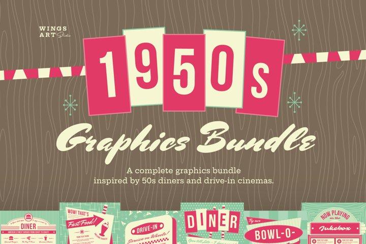 1950s Retro Graphics Bundle