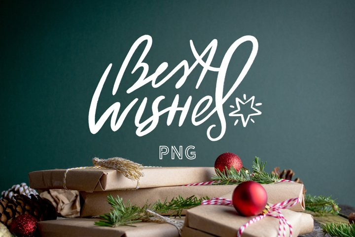 Chalk Christmas PNG Quote BEST Wishes Design