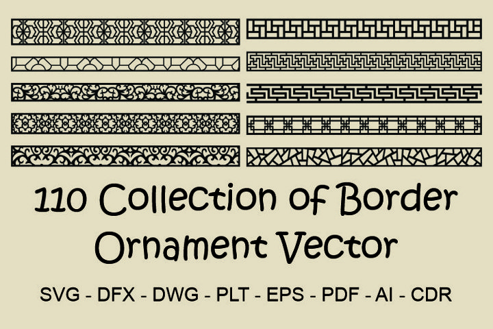 110 Collection of Border Ornament Vector