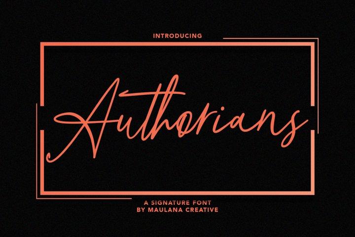 Authorians Signature Font