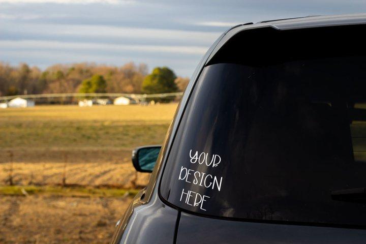 Rear Window SUV Mock Up
