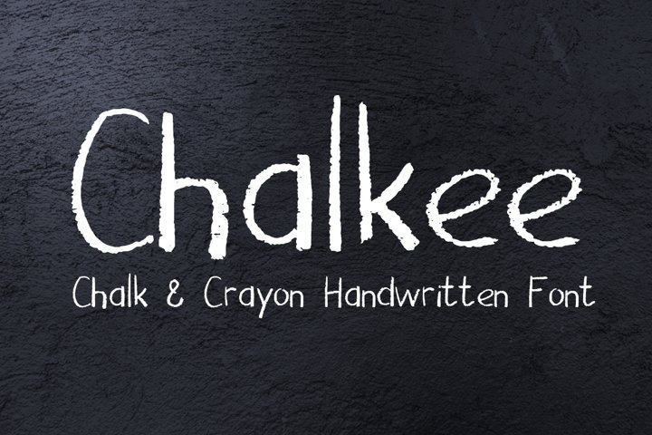 Chalkee - English and Russian Chalk Handwritten Font