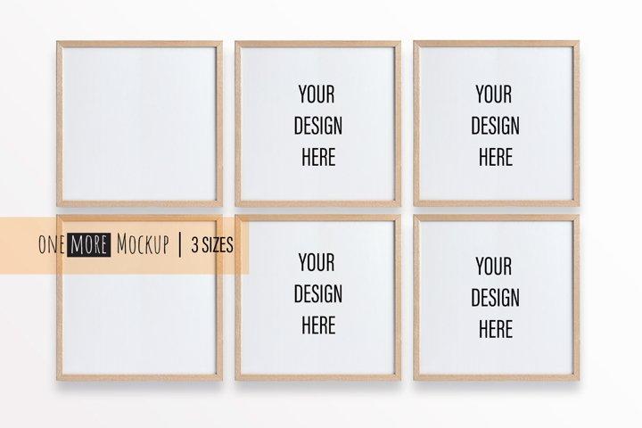 6 Frames Mockup |1x1 Frames Mock Up |Blank Frame Mockup
