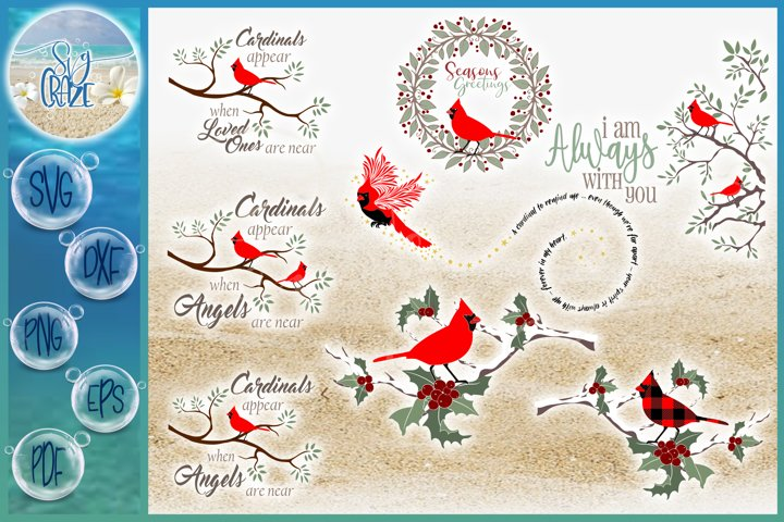 Cardinal SVG Bundle | Cardinal Quote SVG | Cardinals Appear