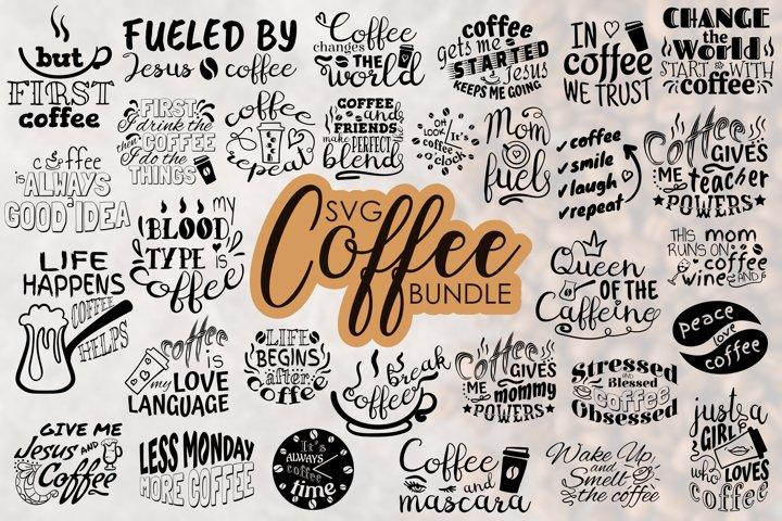 Coffee SVG Bundle, Coffee Cup SVG files for Cricut cut files