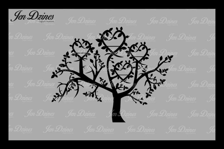 Family Tree 4 Names SVG DXF EPS PNG