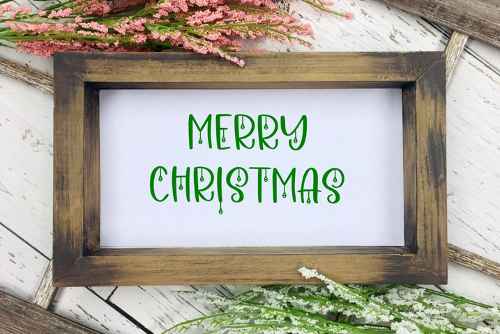 Merry Christmas Cut File - SVG & PNG