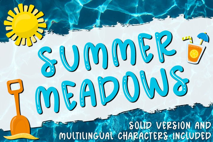 Summer Meadows - Shiny & Solid Fun & Quirky Font