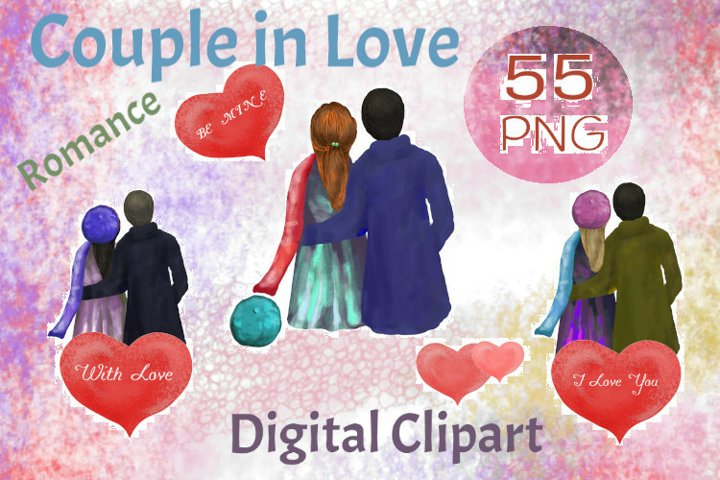 Valentine couple clipart, Valentines Day, love and romance