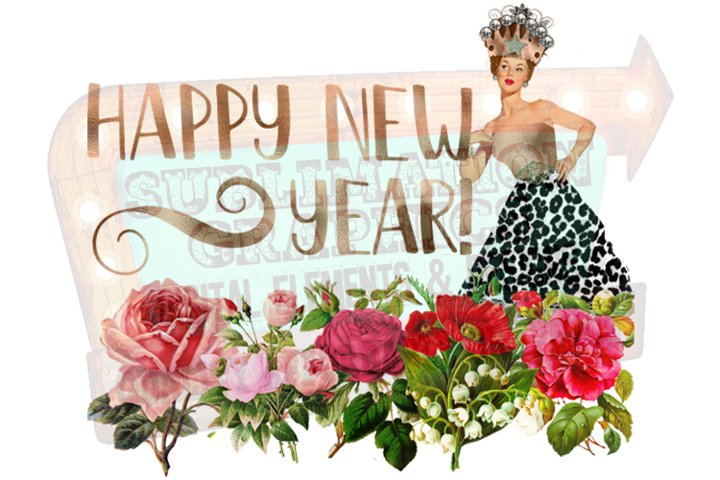 Happy New Year Sublimation Digital Download