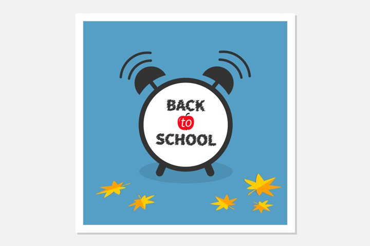 Back to school. Alarm clock