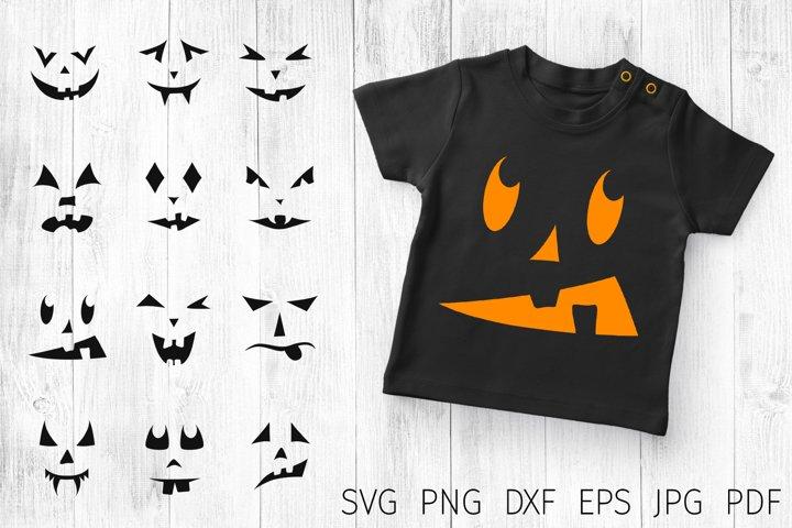 Pumpkin faces svg. halloween face bundle svg. Jack o lantern