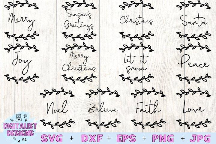 Christmas Ornament SVG Bundle, Christmas SVG Bundle