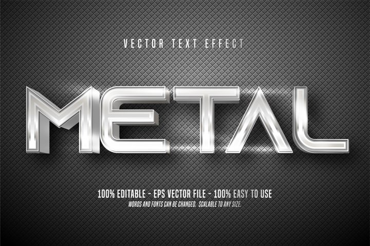 Metal editable text effect