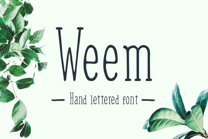 Weem Hand Lettered Font