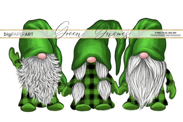 St. Patricks Day Gnome PNG, Gnome Sublimation Design
