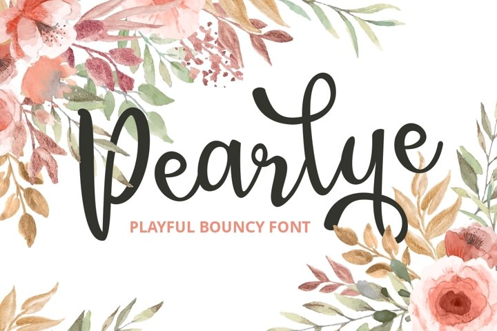 Pearlye - Playful Bouncy Font example
