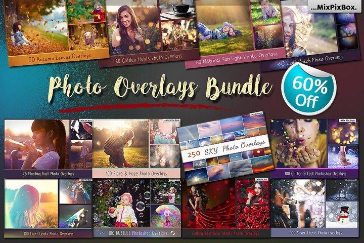 900 Photo Overlays Bundle