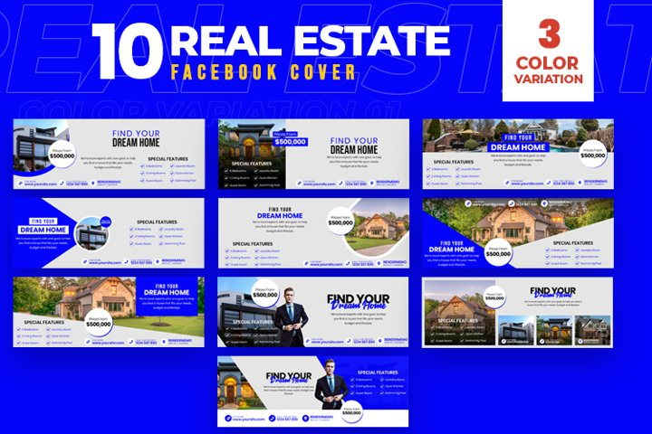 Real Estate 10 Facebook Cover