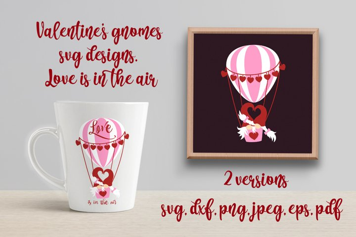 Valentines gnomes svg design. Love is in the air.