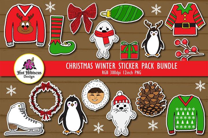 Christmas Holidays Sticker Pack Bundle