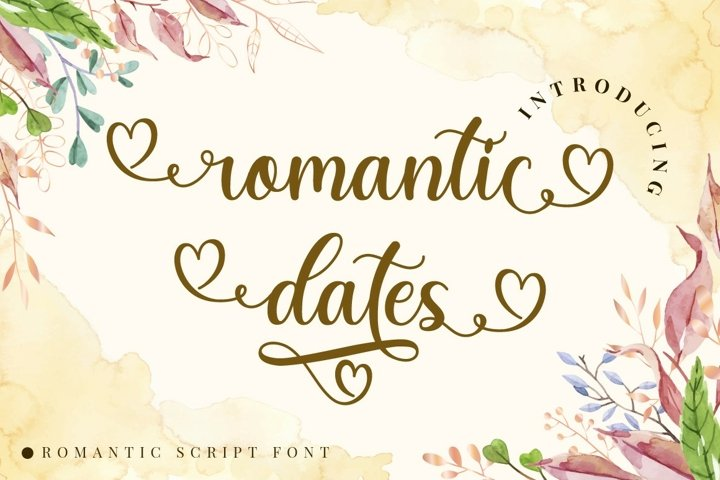 Romantic Dates - Love Font