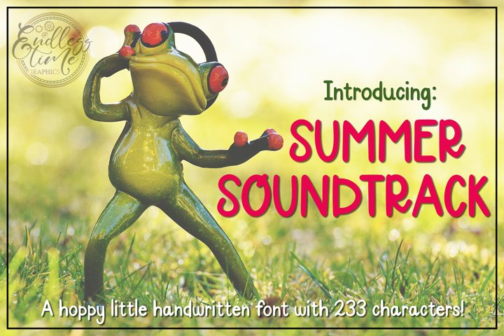 Summer Soundtrack - A Hoppy Little Handwritten Font