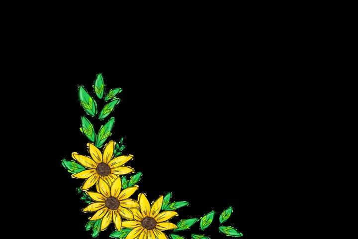 Sunflower Wreath Sublimation PNG Digital