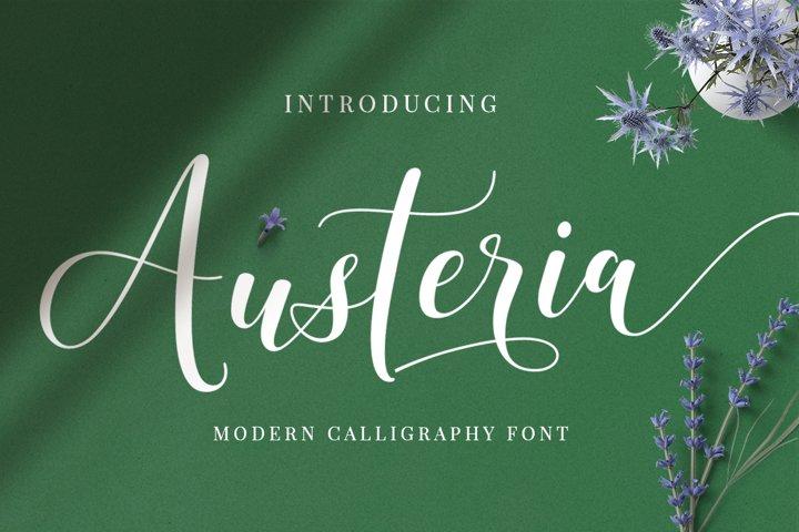 Austeria Script - Calligraphy Font