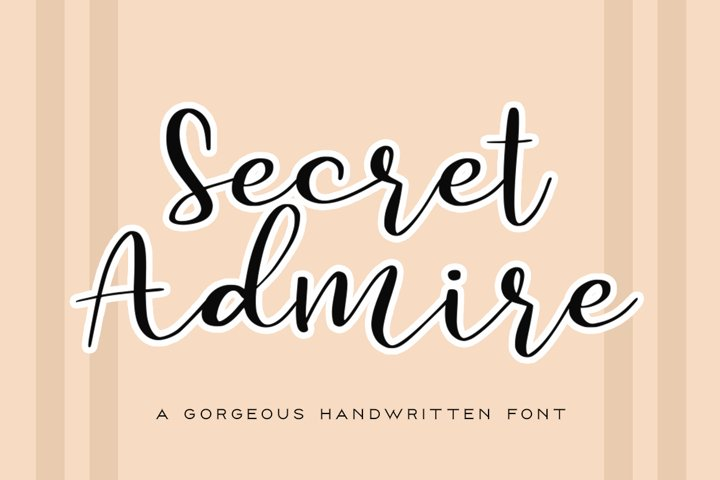 Secret Admire Handwritten Font