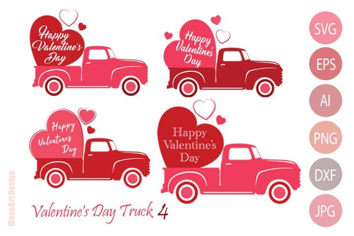 Valentines Day Truck